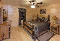prefab log cabin home bedroom