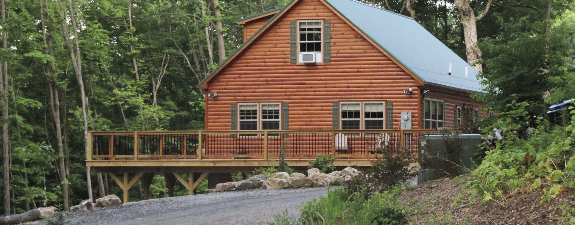 mountaineer cabin | 2 story cabin | large log homes | zook cabins