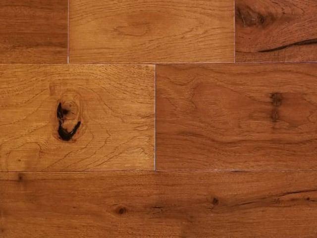 Hickory Saddle Flooring for Modular Cabins