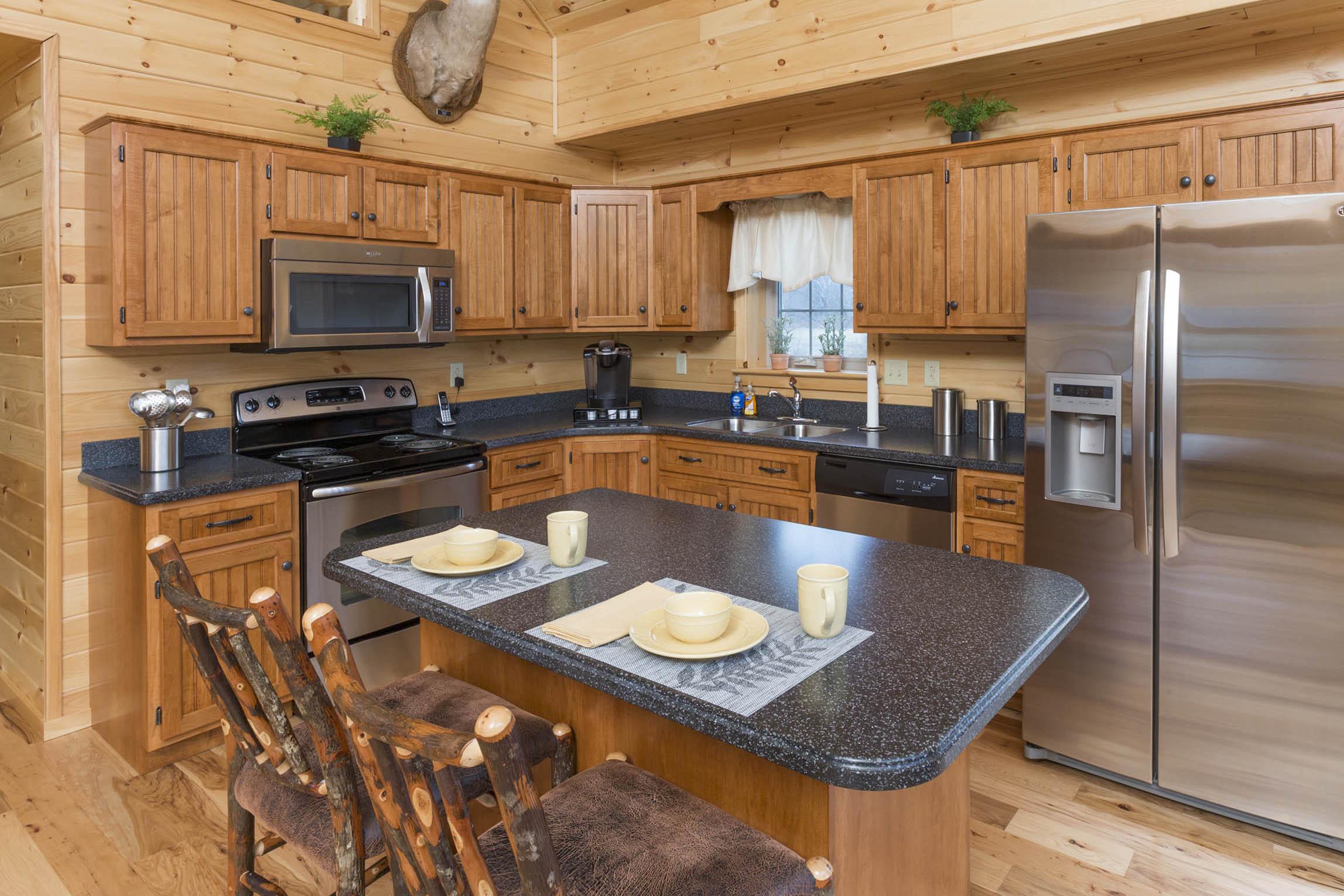 cabin kitchen building ideas