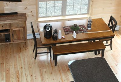 custom log cabin pine flooring