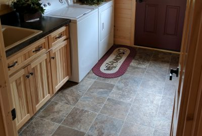 custom log cabin vinyl flooring