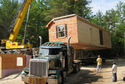 double wide log mobile home