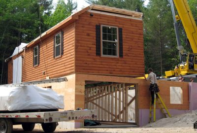 log cabin delivered
