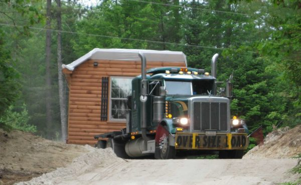 log cabins delivered
