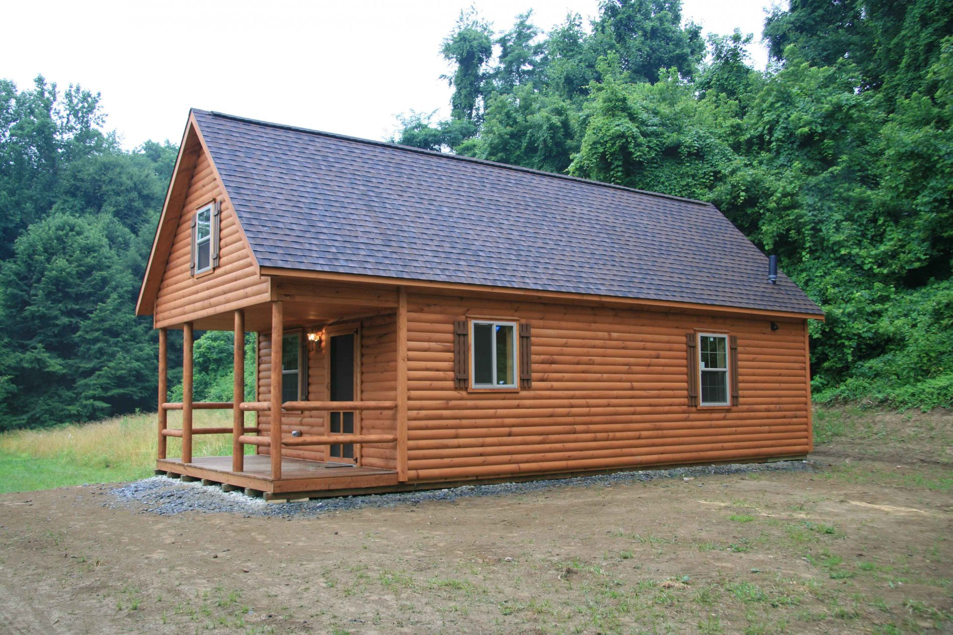 Prefab log cabin pictures and prefab log home photos for Modular cabins and cottages