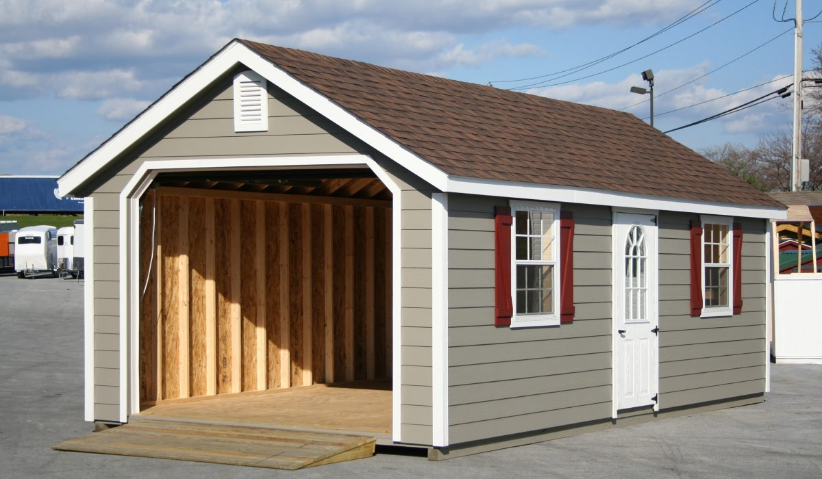 a frame single car garage prefab
