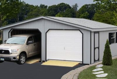 double wide log cabin garages