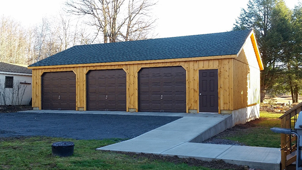 Log Cabin Garages For 1