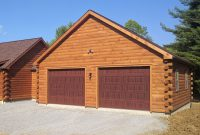 log cabin garages to go with custom log cabings