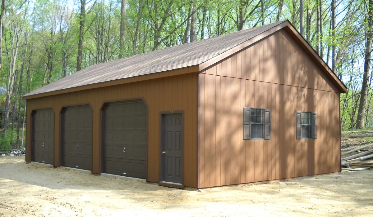 High roof garage prefab garage kits and installation by for 24x40 garage