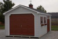 single car log garages