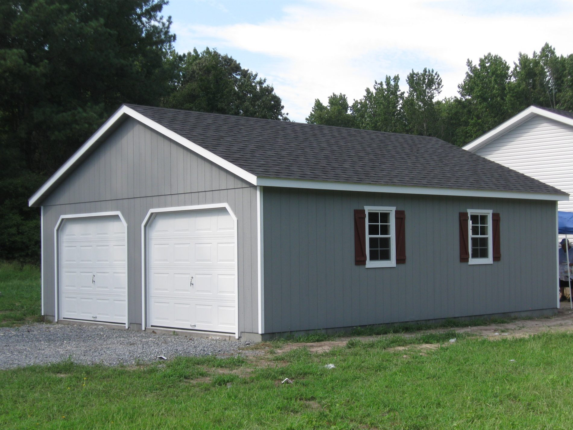 Double wide garages 2 car garages for sale zook cabins for Double garage cost