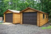 wood siding single car garage 1