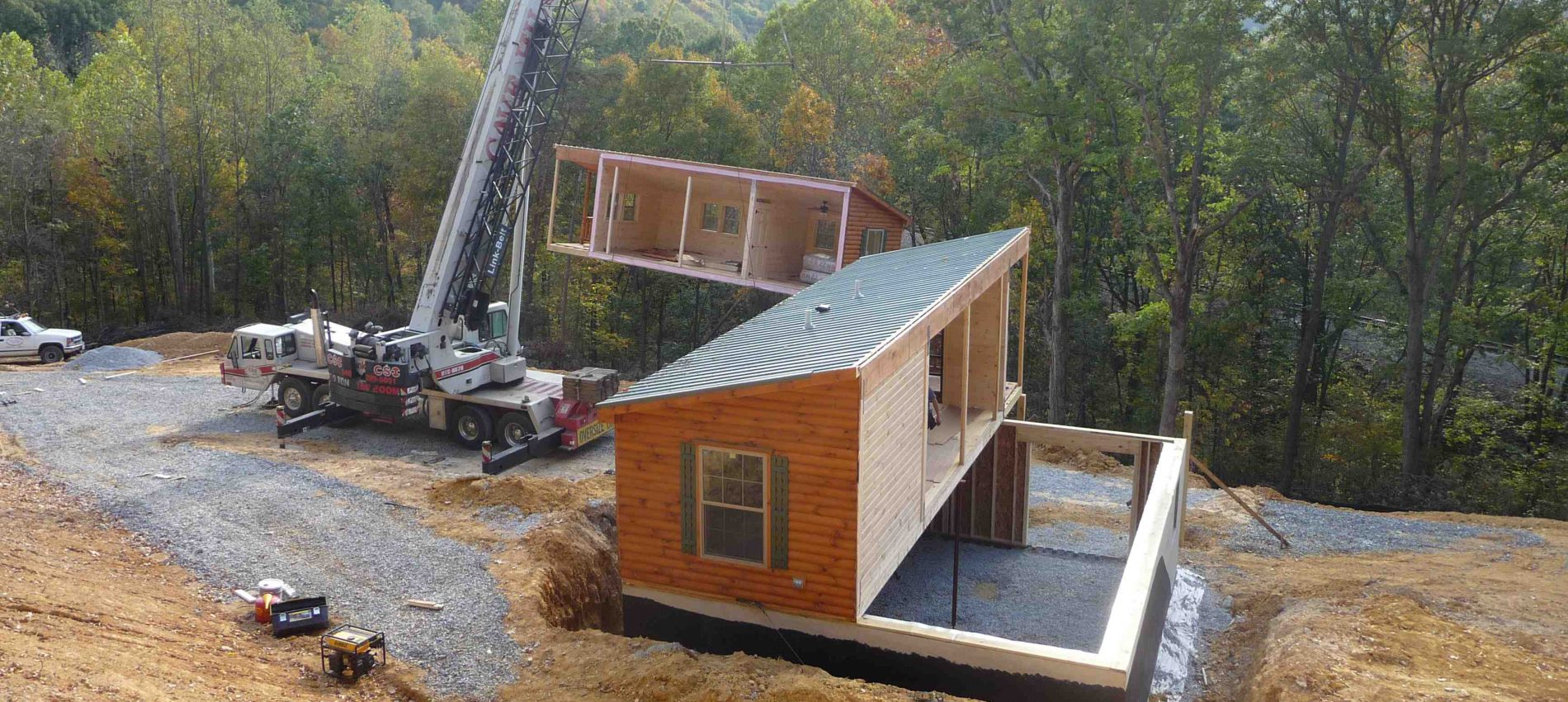 Modular log Cabins Installation