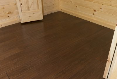 cabin dark maple flooring