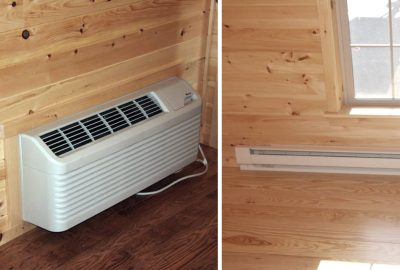 cabin heat ac unit or baseboard