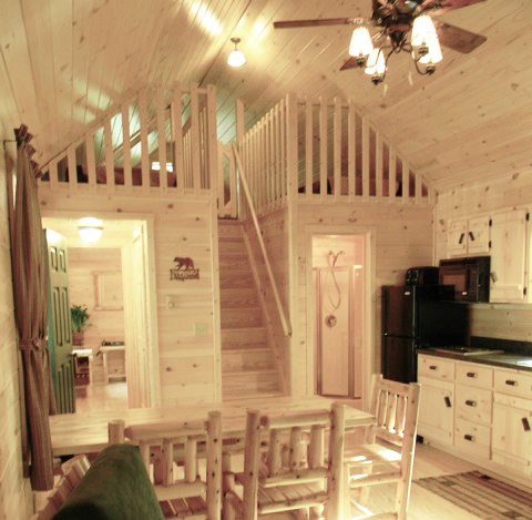 cabin loft with stairs