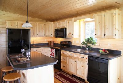 cabin pine beaded cabinets