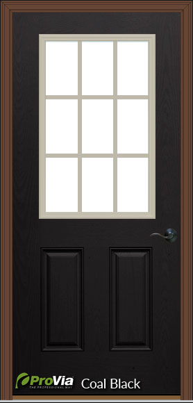 prefab log cabin entry door black