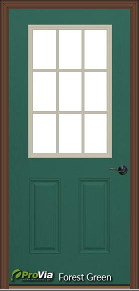 prefab log cabin entry door forest green