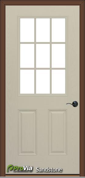prefab log cabin entry door sandstone