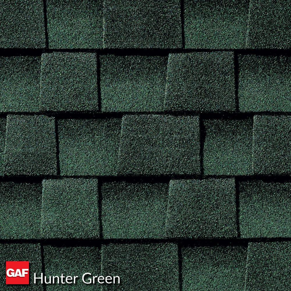 prefab log cabin roofing asphalt hunter green