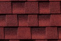 prefab log cabin roofing asphalt patriot red
