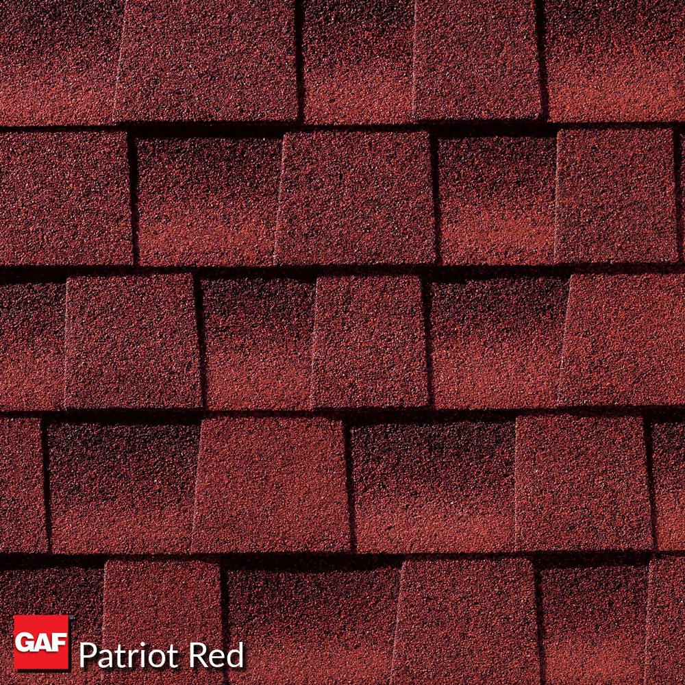 prefab log cabin roofing asphalt patriot red