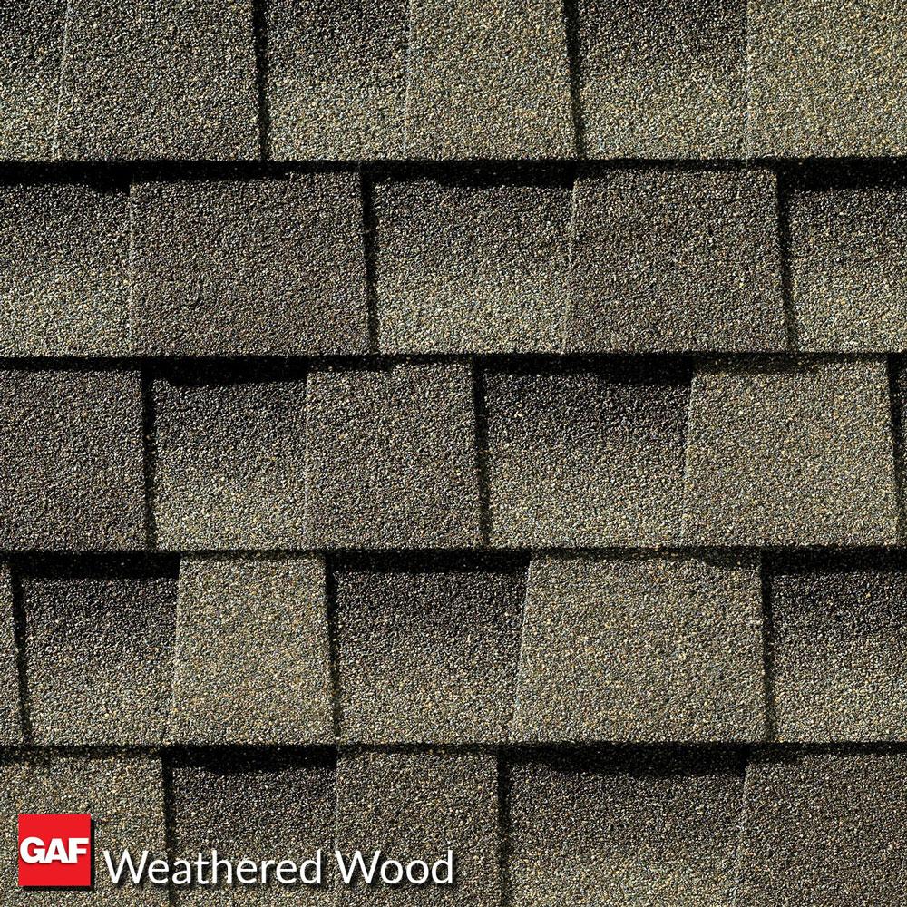 prefab log cabin roofing asphalt weathered wood