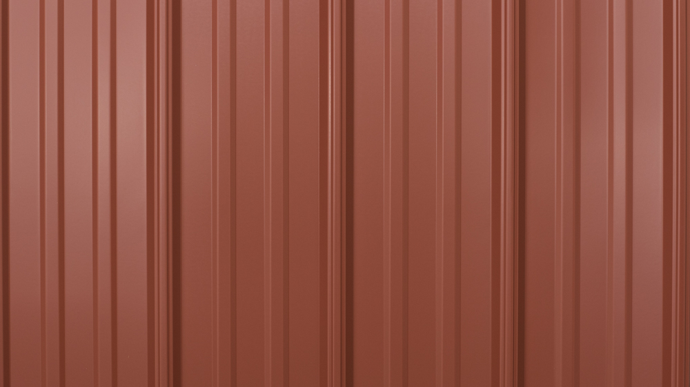 prefab log cabin roofing metal colonial red