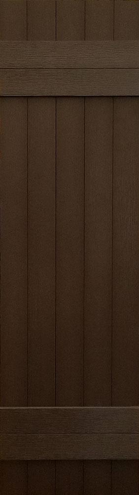 prefab log cabin shutters brown