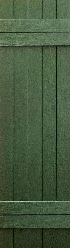 prefab log cabin shutters green