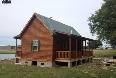 concrete base for log cabin
