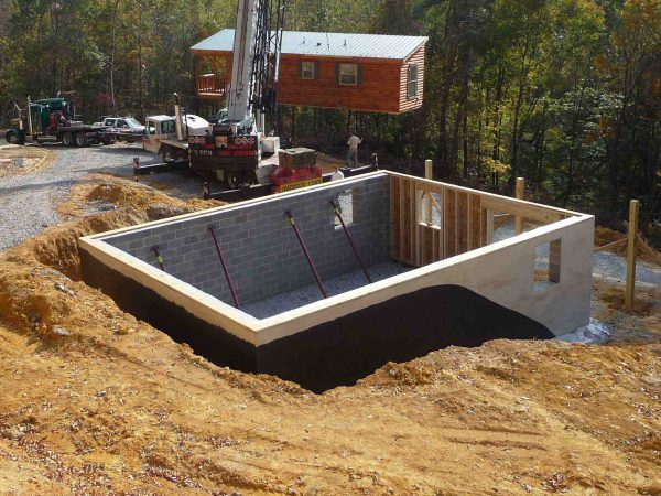 log cabin foundation preparation