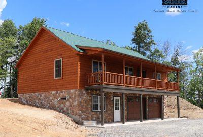 log home foundation garage