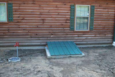 log home utility cover