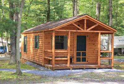 small cabin foundation stone