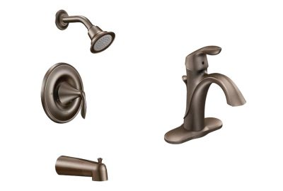 prefab log cabin faucet bronze bath