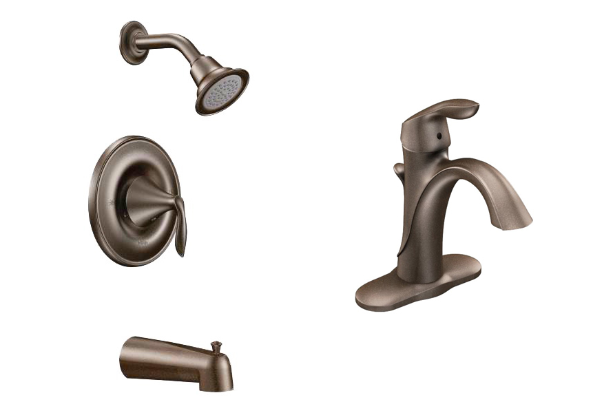 prefab log cabin faucet bronze bath