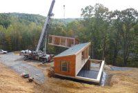 modular cabin installation
