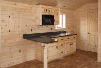 single wide log cabin kitchen