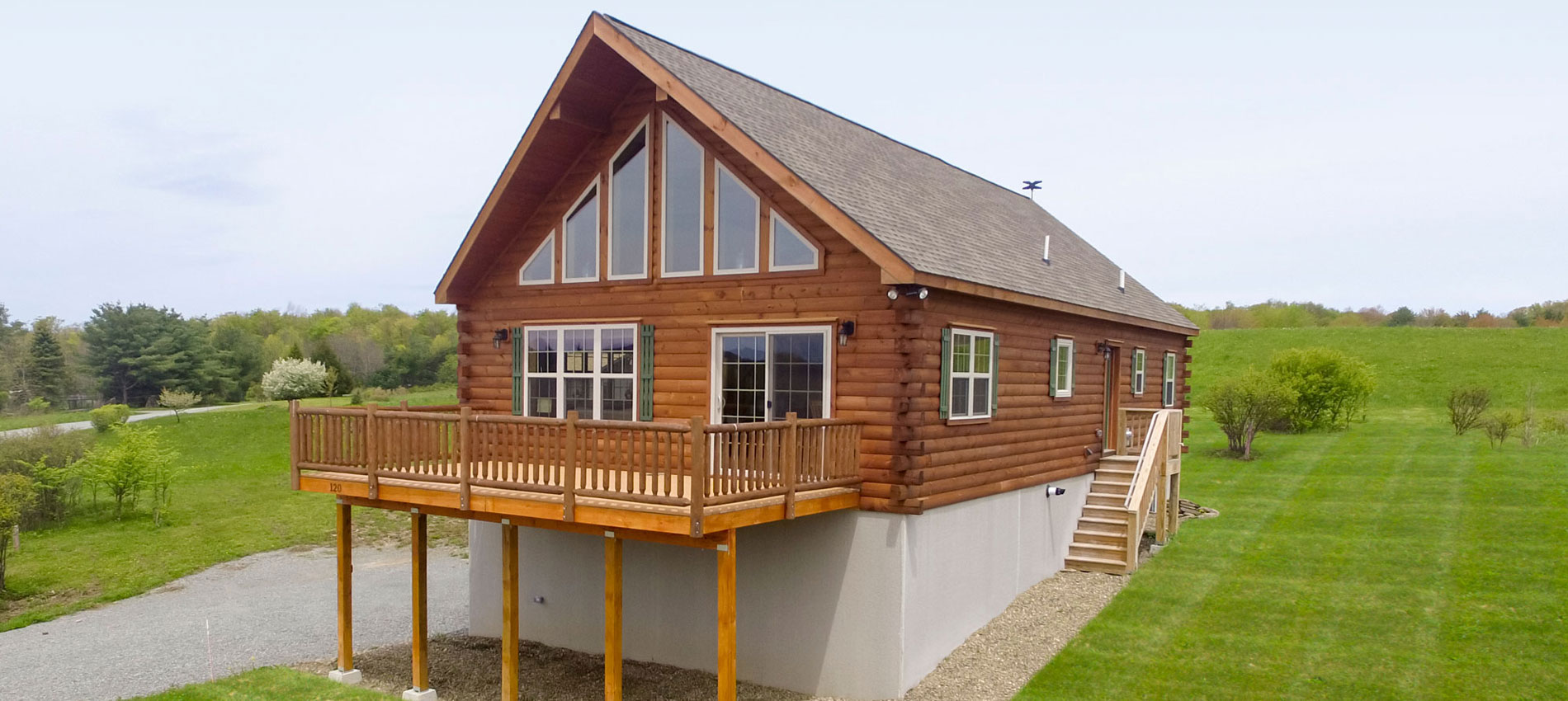 chalet prefab log cabin homes for sale by zook cabins
